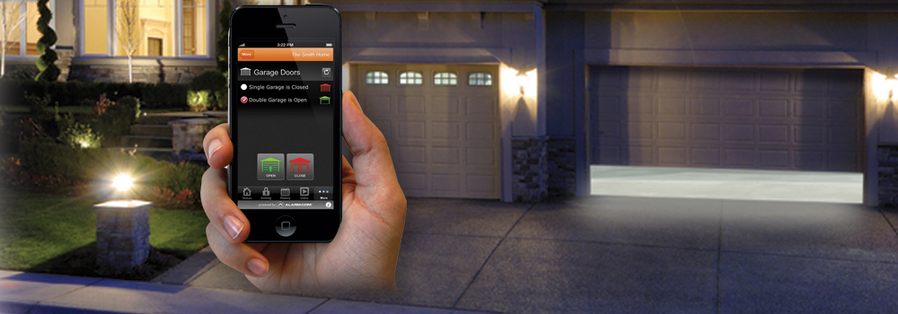 Easily monitor, manage & control your garage door through free mobile apps