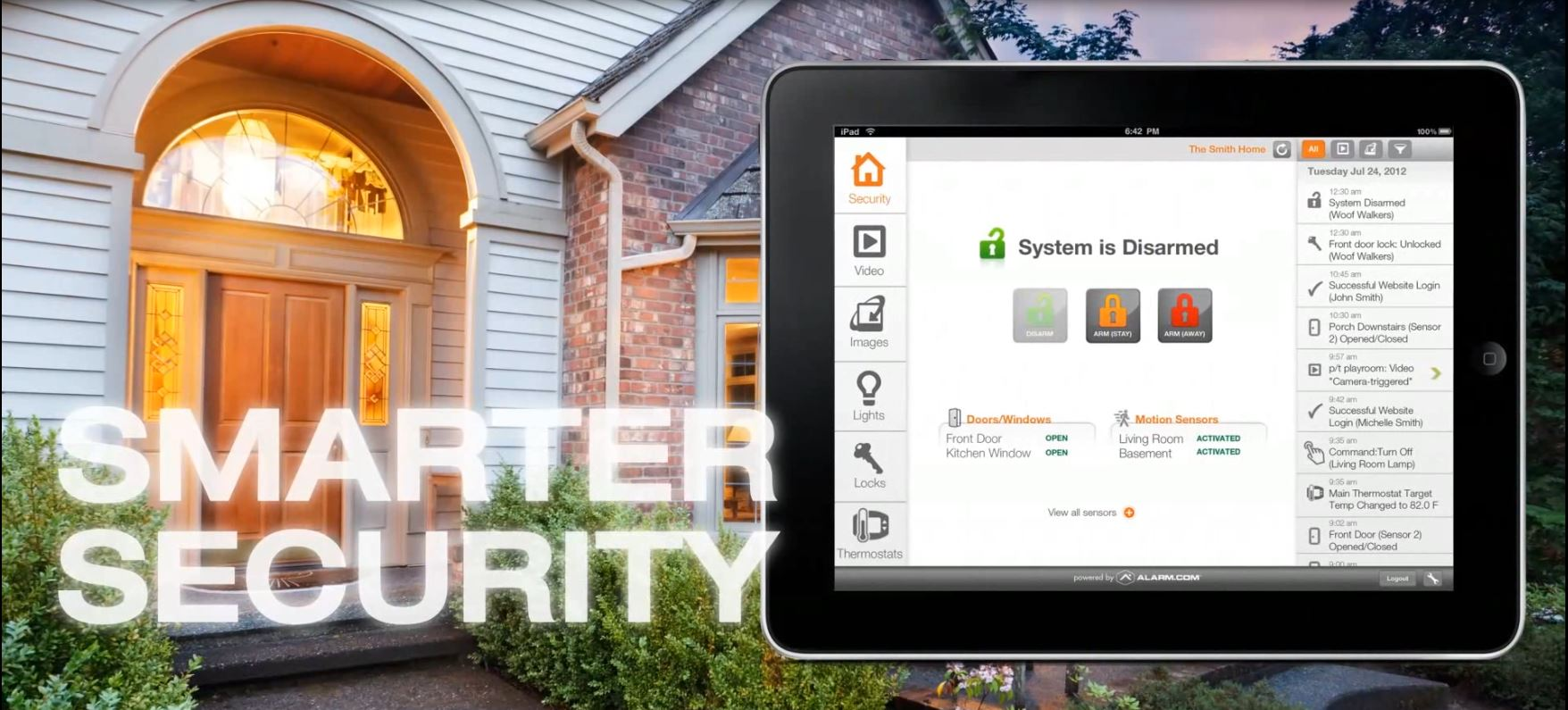 Alarm Engineering powered by Alarm.com provides a whole other level of security & convenience.
