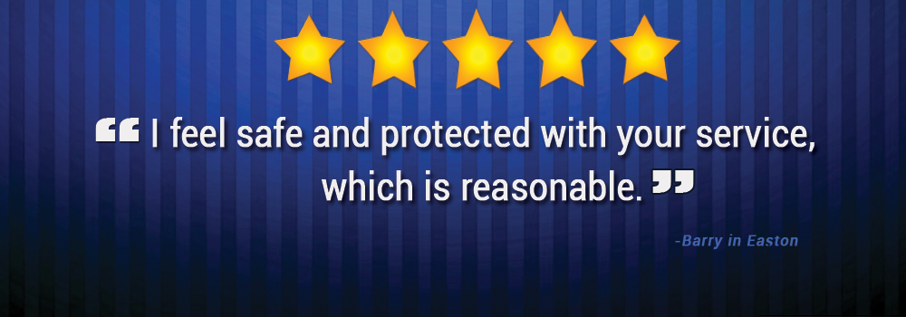 Barry in Easton, MD feels safe and protected with Alarm Engineering
